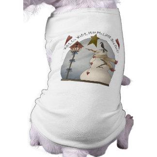Het leuke Overhemd van de Hond van de Sneeuwman T-shirt