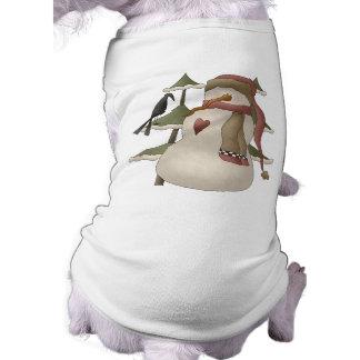 Het leuke Overhemd van de Hond van Kerstmis van de T-shirt