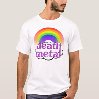 Het leuke Overhemd van de Regenboog van het Metaal T Shirt