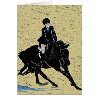 Het leuke Paard toont Ruiter Kaart