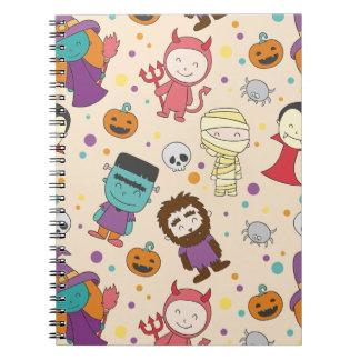 Het leuke patroon van cartoonHalloween Notitieboek