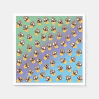 Het leuke Patroon van de Kegel van het Roomijs van Wegwerp Servetten