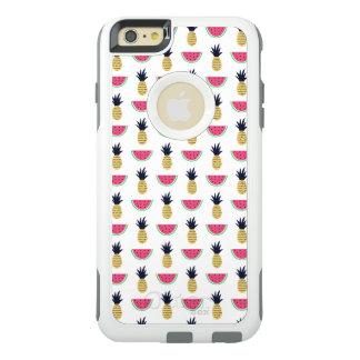 Het leuke Patroon van de Krabbel van de Ananas & OtterBox iPhone 6/6s Plus Hoesje