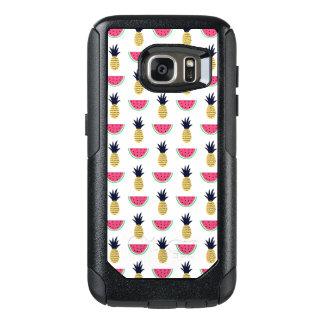 Het leuke Patroon van de Krabbel van de Ananas & OtterBox Samsung Galaxy S7 Hoesje