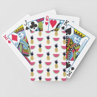 Het leuke Patroon van de Krabbel van de Ananas & Poker Kaarten
