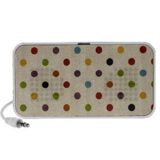 het leuke patroon van de regenboogstip iPod luidspreker