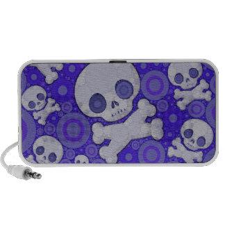 Het leuke Patroon van de Schedel Girly iPod Speakers