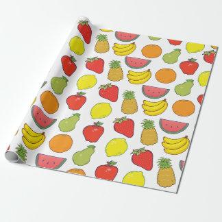 Het leuke Patroon van het Fruit Inpakpapier