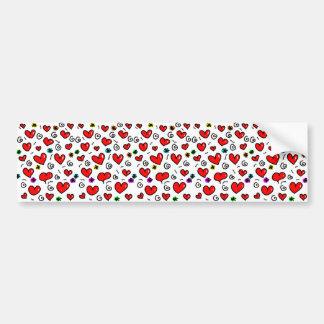 Het leuke Patroon van het Hart van de Liefde van Bumpersticker