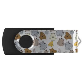 Het leuke Patroon van het Portret van de Dieren USB Stick