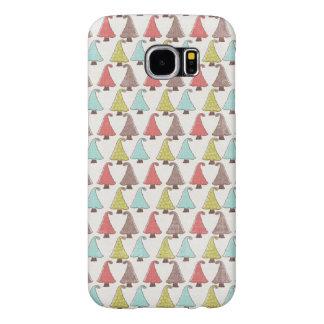 Het leuke Patroon van Kerstbomen Samsung Galaxy S6 Hoesje