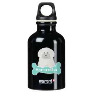 Het leuke Pluizige Krullende Monogram van de Hond Waterfles