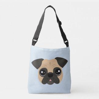 Het leuke Pug DwarsCanvas tas van het Lichaam