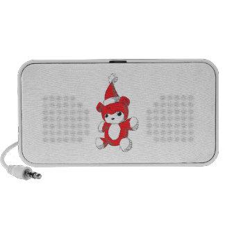 Het leuke Rode Kussen van het Pet van de Kerstman iPod Speakers