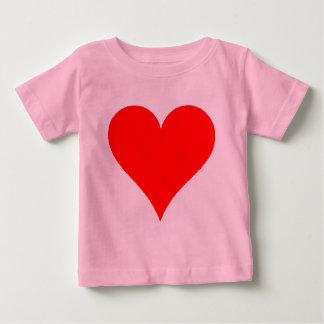 Het leuke Rode Overhemd van het Hart voor Meisjes Baby T Shirts