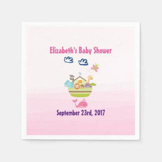 Het leuke Roze Baby shower van de Bak van de Papieren Servetten