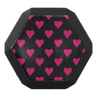 Het leuke Roze en Zwarte Patroon van het Hart Zwarte Bluetooth Speaker