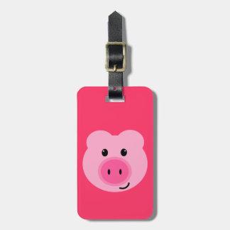 Het leuke Roze Label van de Bagage van het Varken Bagagelabel