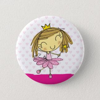 Het leuke Roze meisje van het Ballet van de Ronde Button 5,7 Cm