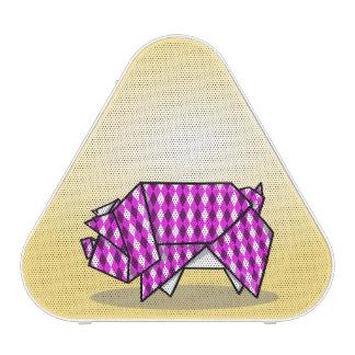 Het leuke Roze Varken van de Origami Bluetooth Luidspreker