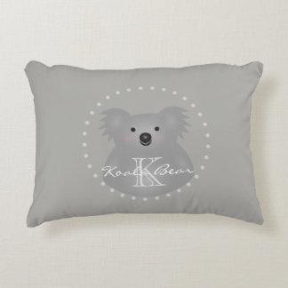 Het leuke Snoezige Monogram van de Koala van het Accent Kussen