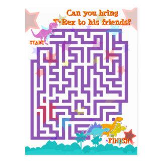 Het leuke Spel van het Raadsel van het Labyrint Wens Kaart