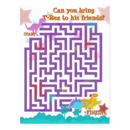 Het leuke Spel van het Raadsel van het Labyrint va Wens Kaart