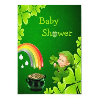 Het leuke St. Patrick Baby shower van de Dag 12,7x17,8 Uitnodiging Kaart