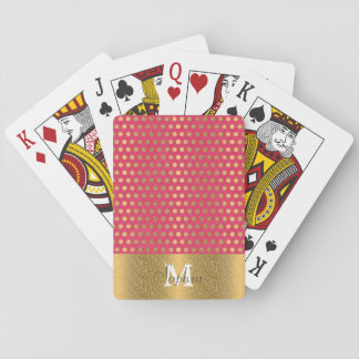 Het leuke trendy stippen faux goud schittert speelkaarten