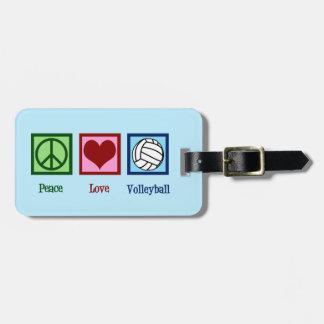 Het leuke Volleyball van de Liefde van de Vrede Kofferlabels