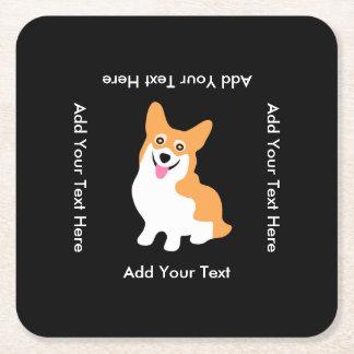 Het leuke Welse Puppy van Pembroke Corgi Vierkante Onderzetter