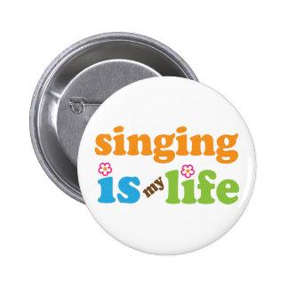 Het leuke Zingen is Mijn Leven Ronde Button 5,7 Cm