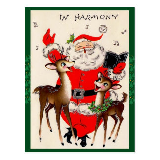 Het leuke Zingende Briefkaart van Kerstmis van de