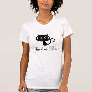 Het leuke Zwarte Overhemd van Halloween van de Kat T Shirt