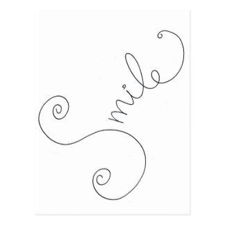 het leuke zwarte witte ontwerp van de glimlachkrab wenskaarten