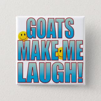 Het Leven B van de Lach van geiten Vierkante Button 5,1 Cm