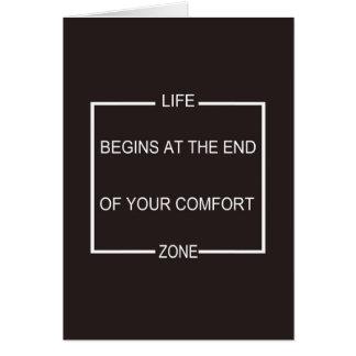 Het leven begint aan het eind van Uw Streek van Wenskaart