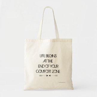 Het leven begint met Canvas tas
