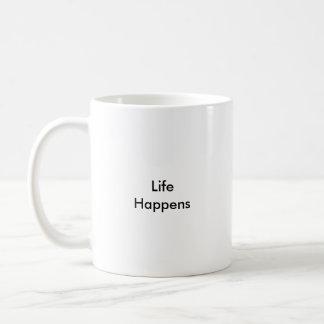Het leven gebeurt koffiemok