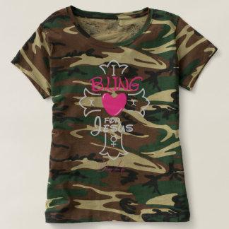Het Leven I van Bling Bling voor Jesus Camouflage T Shirts