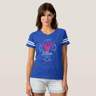 Het Leven I van Bling Bling voor Jesus Football T Shirts