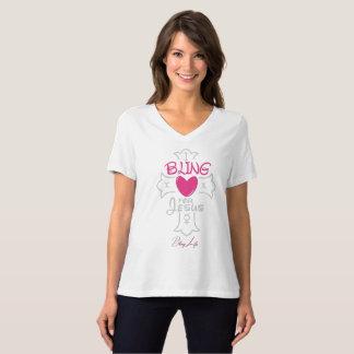 Het Leven I van Bling Bling voor Jesus T Shirt