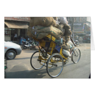 Het leven in India: De Riksja van de fiets Kaart