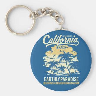 Het leven in Strand van Californië van de Zomer Sleutelhanger
