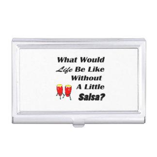 het leven is als zonder rode congas van de salsa visitekaarthouders