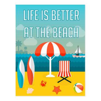 Het leven is Beter bij het Strand Briefkaart