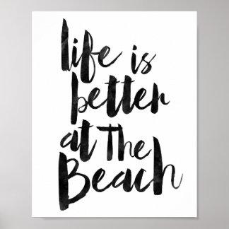 Het leven is Beter bij het Strand Poster