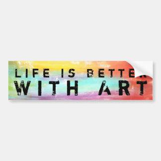 Het leven is Beter met Art. Bumpersticker