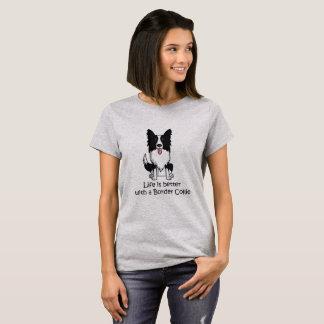 Het leven is Beter met Border collie T Shirt