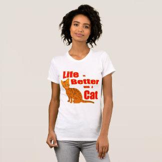 Het leven is Beter met een Kat T Shirt
